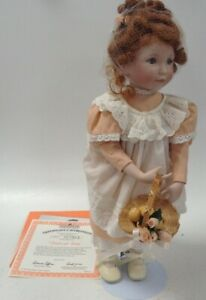 Ashton Drake Galleries Peaches And Cream Porcelain Doll Boxed Collectible Used