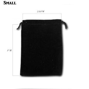 Black Velvet Drawstring Pouches Black Jewelry Bags Pouches Velvet Bags 12~84~144