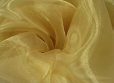 "Gold Plain Organza Sheer Wedding Decoration Dress Fabric 60"" Wide £12 For 5metre"
