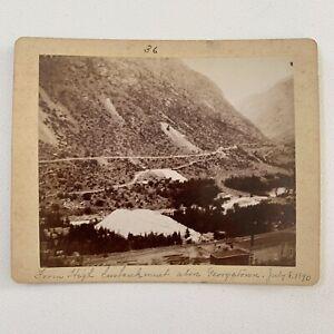 Antique Cabinet Card Photograph Original Kodak? 1890 Georgetown, Colorado Co