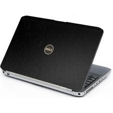 BLACK BRUSHED TEXTURED Vinyl Lid Skin Cover fits Dell Latitude E5530 Laptop