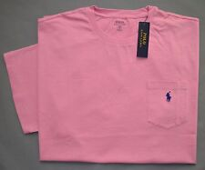 New 2XB 2XL BIG Polo Ralph Lauren Mens short sleeve pink T-shirt Tee crew 2X top