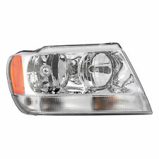 99-04 GRAND CHEROKEE LIMITED OVERLAND R/H HALOGEN HEADLIGHT LAMP CHROME INTERIOR