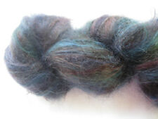 100gm Brushed Mohair Designer Hand-dyed Yarn Rust Pewter Charcoal Knitting 170m