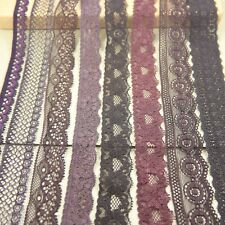 50 yards/lot mix  brown&coffee series Elastic Stretch Lace trim sewing/garment