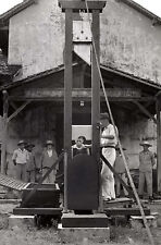 Framed Print - Public Execution by Guillotine (Picture Capital Death Penalty Art
