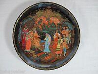 Legend of the Snowmaiden Plate 3 Judgement Of Tsar Berendey Box Cert Russian