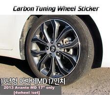 """Carbon Tuning Wheel Mask Sticker For Hyundai Avante MD / Elantra 17""""(2013~14)"""