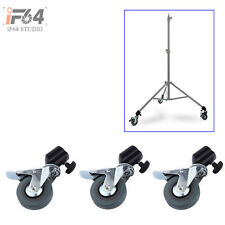 3PCS Photo Studio Heavy Duty Universal Caster Wheel For Light Stands&Studio Boom
