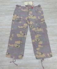 NEW Da-Nang Surplus Women's Capris Pants Pockets KOICA/ CAMO RSS1658 Sz: X-SMALL
