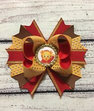 """5"""" Daniel Tiger Stacked Boutique Hair Bow Handmade"""
