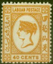 Labuan 1893 40c Brown-Buff SG47a Fine Mtd Mint (21)
