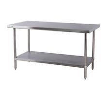 """Regency 72"""" Long x 24"""" (or 30"""") 16G 304 Ss Commercial Work Table w/ Undershelf"""