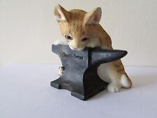 SHERRATT & SIMPSON KITTEN WITH ANVIL AND MOUSE 55521
