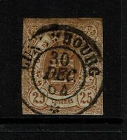 Luxembourg SC# 9, Used, close margins, Hinge Remnant - S4017