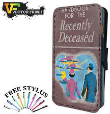 Handbook For The Recently Deceased Beetle Juice - LEATHER FLIP PHONE CASE COVER