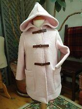 BONPOINT 2-in-1 PINK BOILED WOOL Duffle COAT Fleece Lining 3 TASSEL HOOD $400 A
