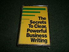 The Secrets To Clear, Powerful Business Writing~NEW~RARE 1987 Cassette~FAST SHIP
