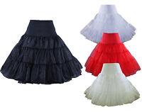 """50s Retro Underskirt Swing Vintage Petticoat 26"""" Tutu Fancy Net Skirt Rockabilly"""