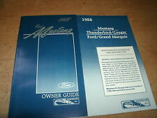 NOS 1988 FORD MUSTANG FACTORY FORD ORIGINAL OWNERS MANUAL W MAINTENANCE SCHEDULE