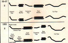 1956 LINCOLN CAPRI & PREMIERE DUAL EXHAUST, ALUMINIZED WITH RESONATORS