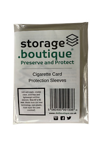 storage.boutique Cigarette Card Protection Sleeves, Plastic Free (67 x 51mm) 100