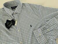 NWT $98 POLO Ralph Lauren Men Mesh Shirt Pony Classic Fit Nylon Blue XXL 2XL