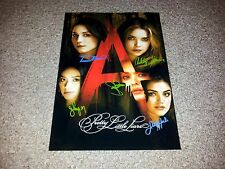 """PRETTY LITTLE LIARS CAST PP SIGNED POSTER 12""""X8"""" A4 SASHA PIETERSE LUCY HALE S3"""