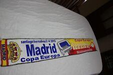 BUFANDA CHAMPIONS LEAGUE ENTRE REAL MADRID GALATASARAY COTIZADA  NUEVA   SCARF