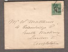 France 5 centimes 1888 cover to South Hackney London England