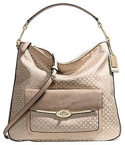 Coach Madison Op Art Pearlescent Handbags Hobo Bag