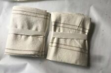 New 2 West Elm Hemp Cotton Serene Stripes Euro Shams Undyed Natural Desert Flax