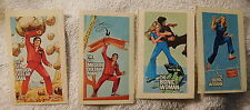VINTAGE SIX MILLION DOLLAR MAN & BIONIC WOMAN CEREAL STICKERS,lot of 4,Cheerios