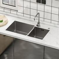 Ticor Sinks Bradford Series 33 L X 22 W Double Basin Drop In Kitchen Sink For Sale Online Ebay