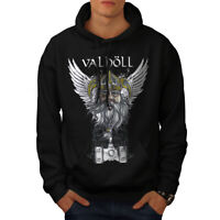Wellcoda Valholl North War Mens Hoodie, Nordic Casual Hooded Sweatshirt