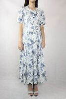 VINTAGE Laura Ashley Floral 80s Dress marked Size 10 (fits 8)