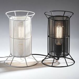 INDUSTRIAL RETRO STYLE WIRE CAGE MESH DESK BEDROOM TABLE LAMP LIVING ROOM FUNKY