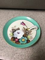 Noritake Japanese Hand Painted Plate With Handle Flowers