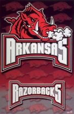 ARKANSAS RAZORBACKS  ~ LOGO 22x34 NCAA University College Sports NEW/ROLLED!
