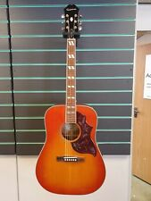 More details for epiphone hummingbird pro 2020 faded cherry electro acoustic guitar