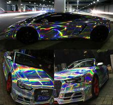 A4 Size Holographic Laser Chrome Black Iridescent Vinyl Film Car Wrap