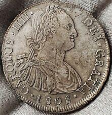 8 Reales 1808PTS PJ Charles IV GRATIA Bolivia Highly Grade !!  KM# 73
