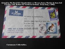 Airmail à M. David H. chamberlain c/o James Mackie & Sons Ltd Belfast. AH0307
