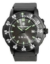 New Authentic Smith & Wesson Men's S.W.A.T. Black Rubber Strap Watch SWW-45