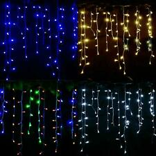 200 LED Icicle Lights Christmas Wedding Snow Effect Battery Operated Outdoor