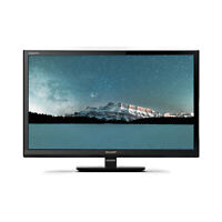 "Sharp 24"" Inch 720p HD Ready LED TV with Freeview HD and USB PVR Record"