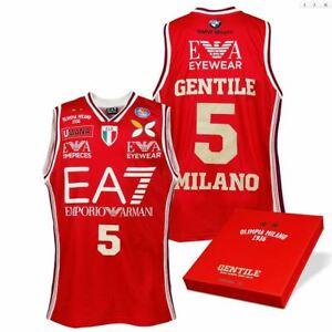 Canotta Olimpia Limited Edition Gentile EA7 Milano Armani Basket Jersey Signed
