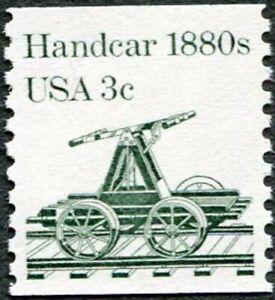 Coil Stamp - EARLY TRANSPORTATION - HANDCAR 1880s - Scott 1898 MNH-OG 1983 (38d)