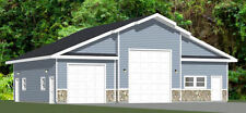 50x42 2-Car 1-RV Garage - PDF FloorPlan - 1,973 sqft - Model 1C