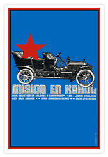 Cuban film Graphic Design movie Poster.Mission KABUL,Afghanistan.Room decor art